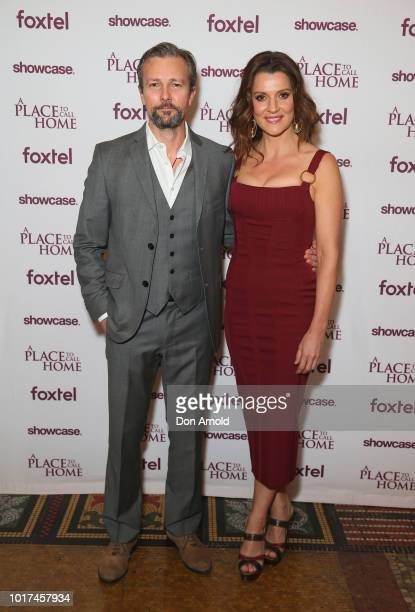 Craig Hall and Sara Wiseman attend the premiere screening event for A Place To Call Home The Final Chapter at State Theatre on August 16 2018 in...