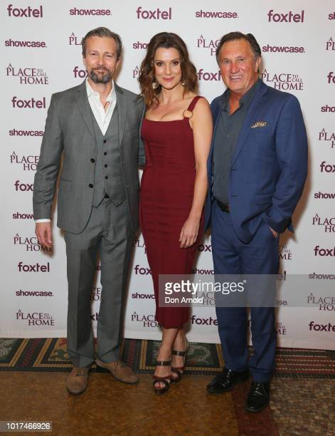 Craig HallSara Wiseman and Frankie J Holden attend the premiere screening event for A Place To Call Home The Final Chapter at State Theatre on August...