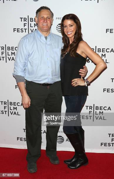 Craig Hatkoff and actress Shannon Elizabeth attend the Awake A Dream From Standing Rock during the 2017 Tribeca Film Festival at Cinepolis Chelsea on...