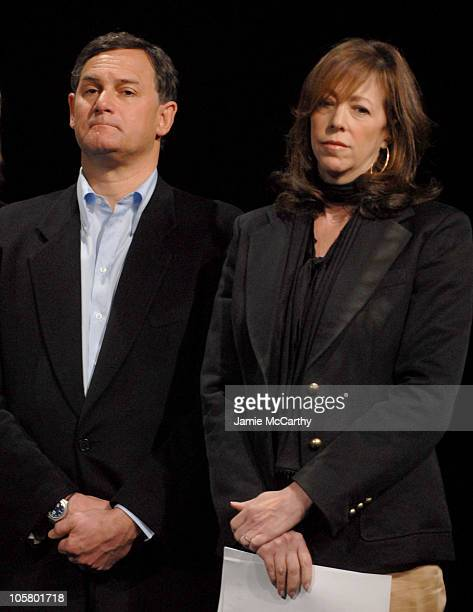 Craig Hatkoff and Jane Rosenthal during 5th Annual Tribeca Film Festival Opening Press Conference at Tribecca Performing Arts Center in New York City...