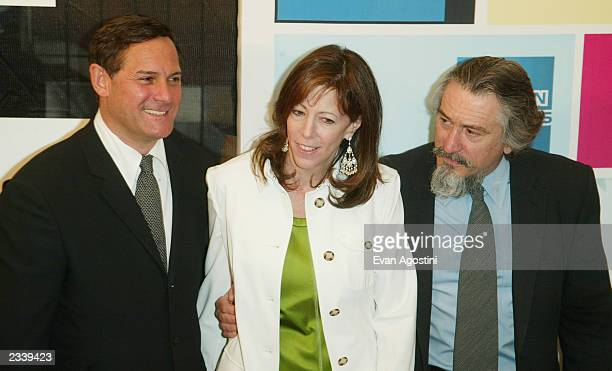 Craig Hatkoff Jane Rosenthal and Robert De Niro attend the 'Down With Love' world premiere as part of the 2003 Tribeca Film Festival at the Tribeca...