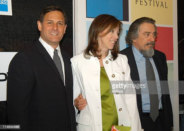 Craig Hatkoff Jane Rosenthal and Robert De Niro during 2003 Tribeca Film Festival 'Down With Love' World Premiere at Tribeca Performing Arts Center...