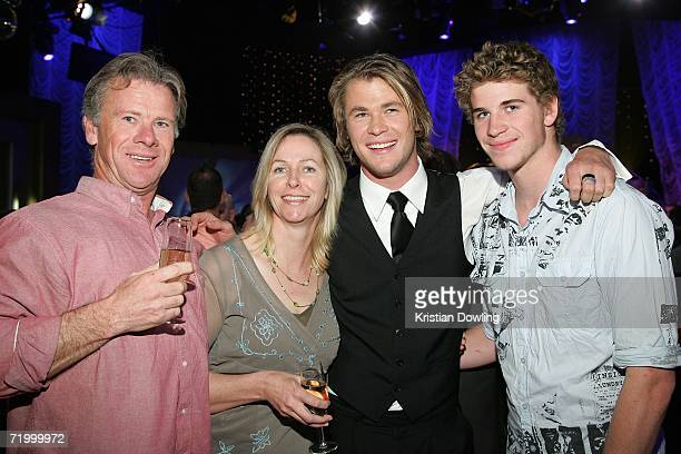 Craig Hemsworth, Leonie Hemsworth, Chris Hemsworth and Liam Hemsworth attend the Dancing With The Stars after show drinks party, following the first...