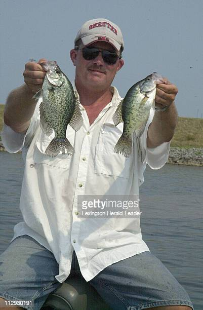 Craig Hipsher a fishing guide since 1994 has a knack for catching crappie even when they're inactive as seen here August 15 on Kentucky Lake