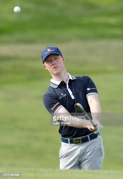 Craig Howie of Scotland plays a shot during a practice round prior to The Open de Portugal on September 16, 2020 in Obidos, Portugal.