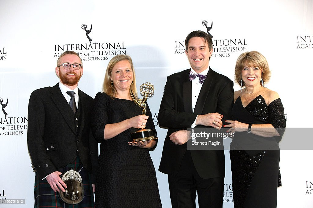 Craig Hunter, Charlotte Moore, Rob Wilkens, and Pat Mitchell attend the 40th Annual International Emmy Awards at the Hilton New York on November 19, 2012 in New York City.