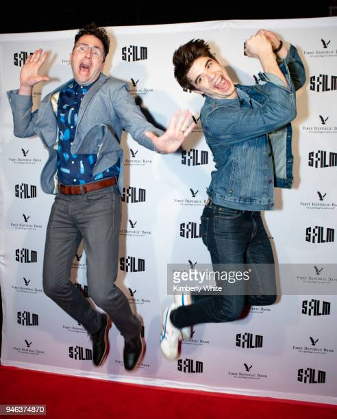 Craig Johnson and Daniel Doheny attend the Alex Strangelove red carpet premiere during 2018 SFFILM at Victoria Theatre on April 14 2018 in San...