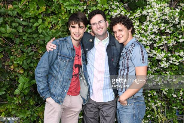 Craig Johnson Antonio Marziale and Daniel Doheny attend Special Screening And QA For Netflix's 'Alex Strangelove' at Los Angeles LGBT Center on June...