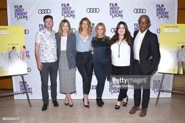 Craig Johnson Judy Greer Laura Dern Cheryl Hines Isabella Amara and Elvis Mitchell attend the Film Independent at LACMA Screening and QA of 'Wilson'...