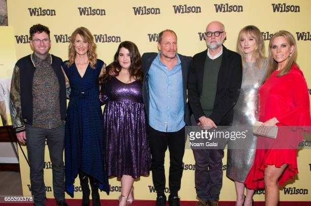 Craig Johnson Laura Dern Isabella Amara Woody Harrelson Daniel Clowes Judy Greer and Cheryl Hines attend the 'Wilson' New York screening at the...