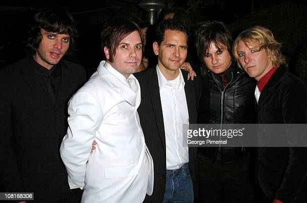 Craig Kallman and Louis XIV during Atlantic Records at Warner Music Group 2005 After GRAMMY Awards Party at Pacific Design Center in Los Angeles,...