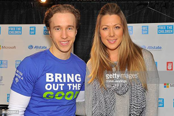 Craig Kielburger and Colbie Caillat attend We Day California at SAP Center on February 25, 2015 in San Jose, California.