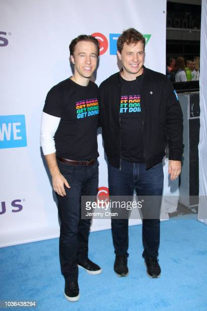 Craig Kielburger and Marc Kielburger arrive to WE Day Toronto and the WE Carpet at Scotiabank Arena on September 20 2018 in Toronto Canada