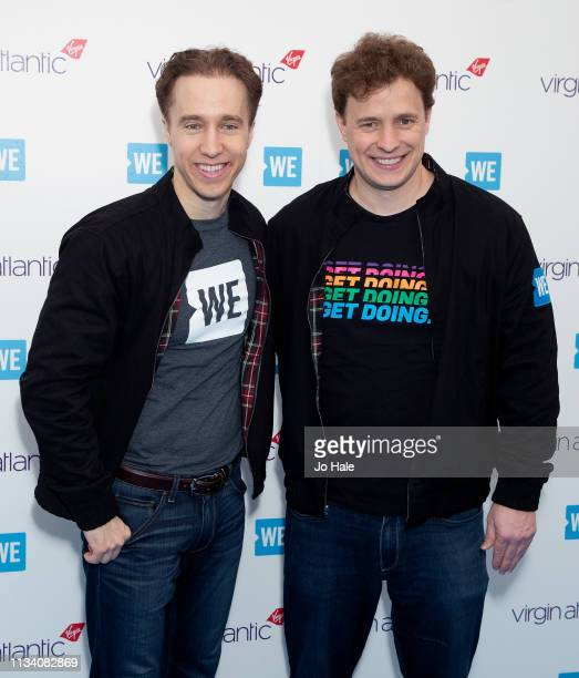 Craig Kielburger and Marc Kielburger attend We Day UK at SSE Arena Wembley at SSE Arena on March 06 2019 in London England