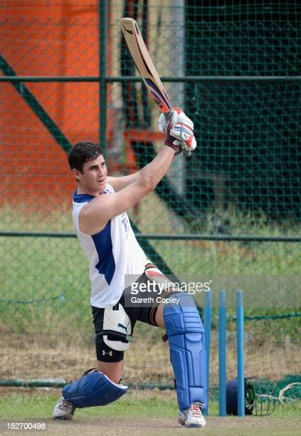 Craig Kieswetter of England bats during a nets session at P Sara Oval on September 24 2012 in Colombo Sri Lanka