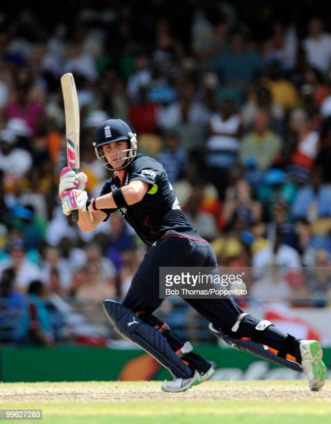 Craig Kieswetter of England whips one to the leg side during the final of the ICC World Twenty20 between Australia and England at the Kensington Oval...