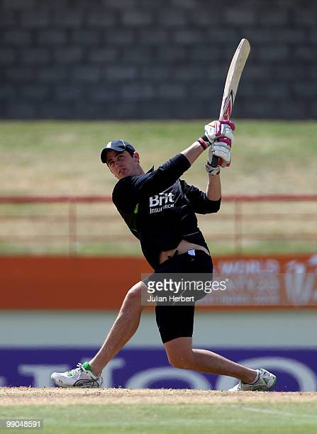 Craig Kieswetter of the England World Twenty20 team takes part in a nets session at the Beausejour Cricket Ground on May 12 2010 in Gros Islet Saint...