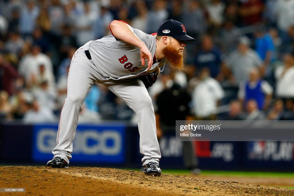 Divisional Round - Boston Red Sox v New York Yankees - Game Four : News Photo