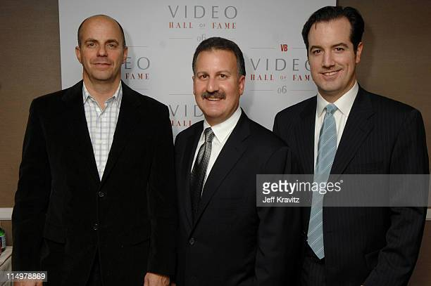 Craig Kornblau President of Universal Studios Home Entertainment is pictured with fellow 2006 Video Hall of Fame inductees Producer Neal H Moritz and...