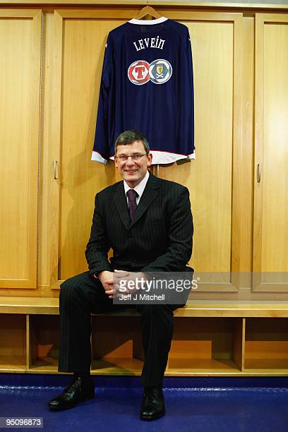Craig Levein is unveiled as the new Scotland football coach at Hampden Park on December 23 2009 in Glasgow Scotland The former Dundee United manager...