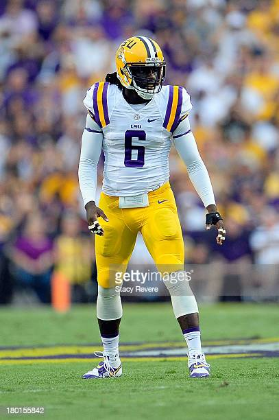 Craig Loston of the LSU Tigers prepares for a play against the UAB Blazers during a game at Tiger Stadium on September 7 2013 in Baton Rouge...