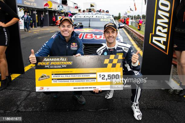 Craig Lowndes driver of the Red Bull Holden Racing Team Holden Commodore ZB and Jamie Whincup driver of the Red Bull Holden Racing Team Holden...
