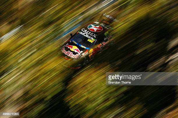 Craig Lowndes driver of the Red Bull Racing Australia Holden drives during practice for the Sydney 500 which is part of the V8 Supercar Championship...