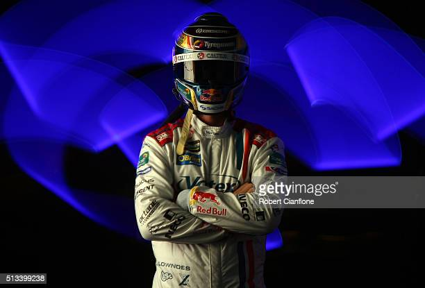 Craig Lowndes driver of the Team Vortex Holden poses during a V8 Supercars portrait session on March 3 2016 in Adelaide Australia