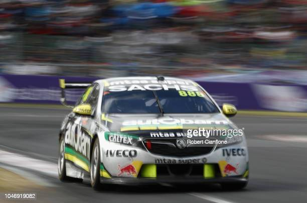 Craig Lowndes drives the Autobarn Lowndes Racing Holden Commodore ZB during the Bathurst 1000 which is race 25 of the Supercars Championship at Mount...