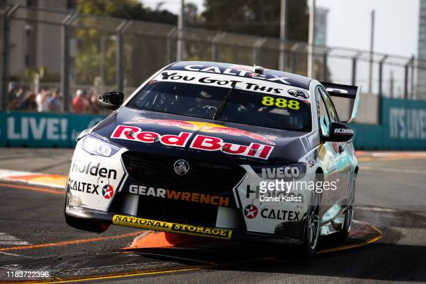 Craig Lowndes drives the Autobarn Lowndes Racing Holden Commodore ZB during race 2 for the Gold Coast 500 Supercars Championship round on October 27...