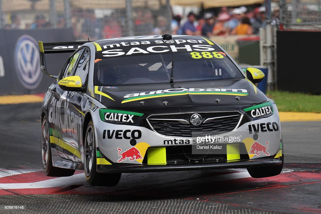 Craig Lowndes drives the #888 Autobarn Lowndes Racing Holden Commodore ZB during race 2 for the Supercars Adelaide 500 on March 2, 2018 in Adelaide, Australia.