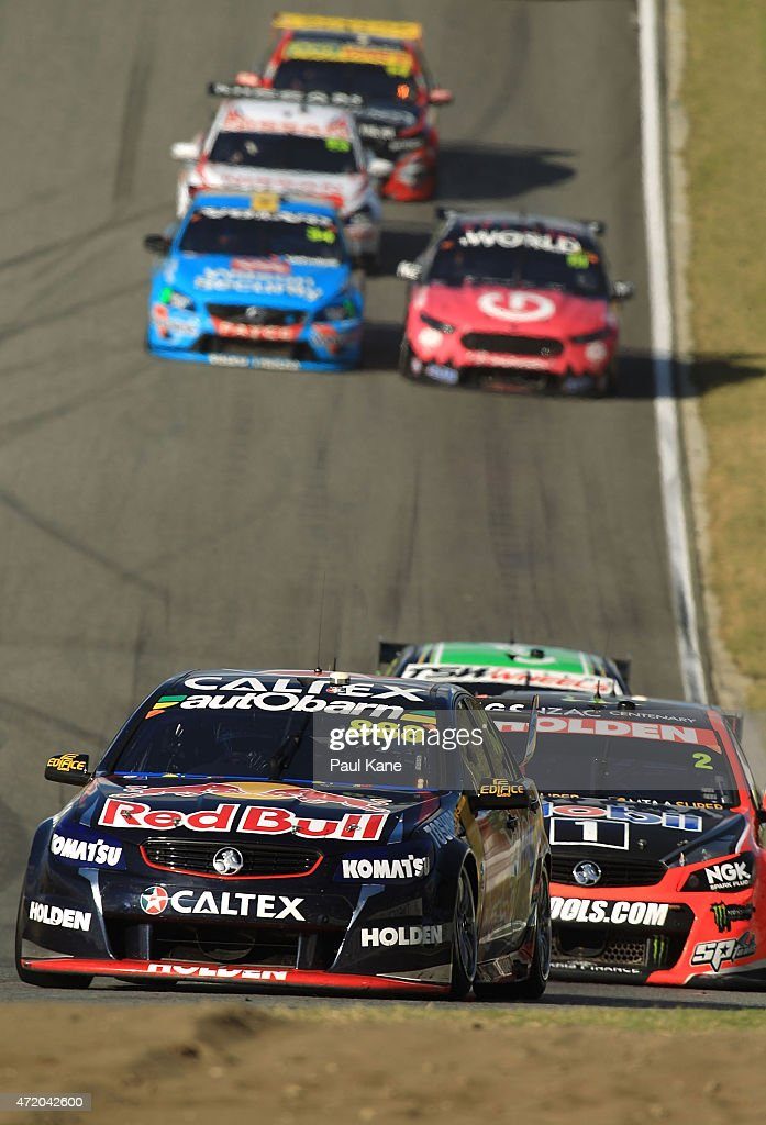 Craig Lowndes drives the #888 Red Bull Racing Australia Holden Commodore VF in race 9 during the V8 Supercars - Perth Supersprint at Barbagallo Raceway on May 3, 2015 in Perth, Australia.