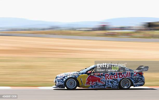Craig Lowndes drives the Red Bull Racing Australia Holden during practice for the Bathurst 1000 which is round 11 of the V8 Supercars Championship...