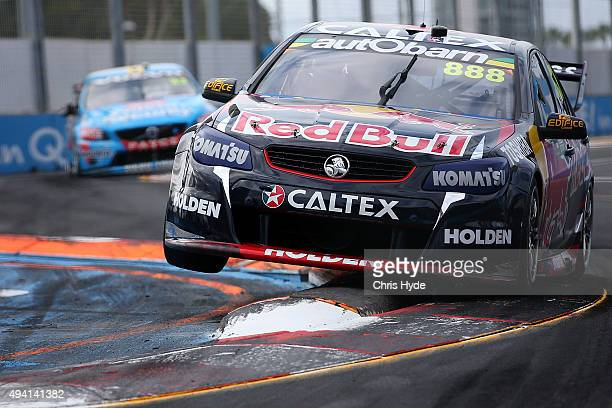 Craig Lowndes drives the Red Bull Racing Holden VF Commodor during Race 27 at the Gold Coast 600 which is part of the V8 Supercars Championship at...