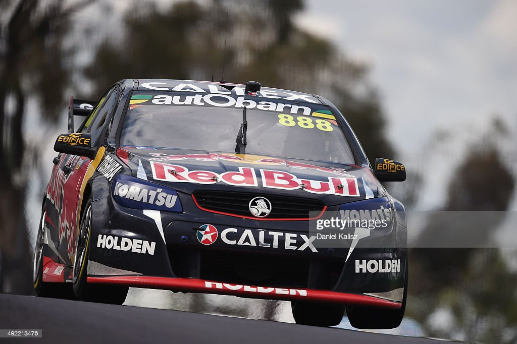 Craig Lowndes drives the #888 Red Bull Racing Holden VF Commodore during the Bathurst 1000, which is race 25 of the V8 Supercars Championship at Mount Panorama on October 11, 2015 in Bathurst, Australia.