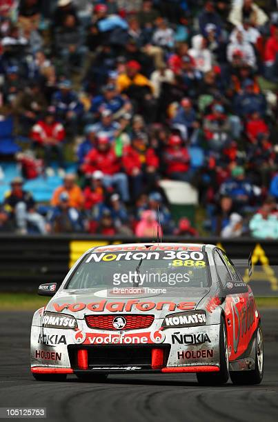 Craig Lowndes drives the Team Vodafone Holden during the Bathurst 1000 which is round 10 of the V8 Supercars Championship Series at Mount Panorama on...