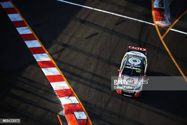 Craig Lowndes drives the TeamVortex Holden Commodore VF during practice 3 for the Gold Coast 600 which is part of the Supercars Championship at...