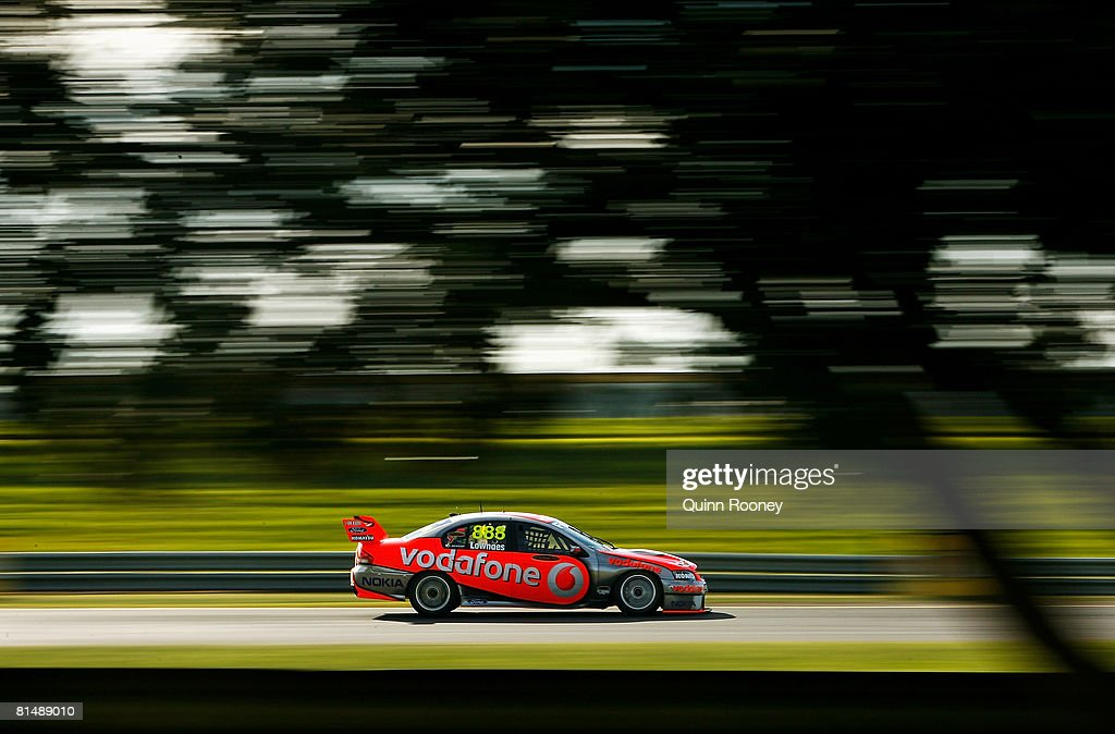 Craig Lowndes of Team Vodafone drives during race one of round five of the V8 Supercars Championship Series at Sandown International Motor Raceway on June 8, 2008 in Melbourne, Australia.