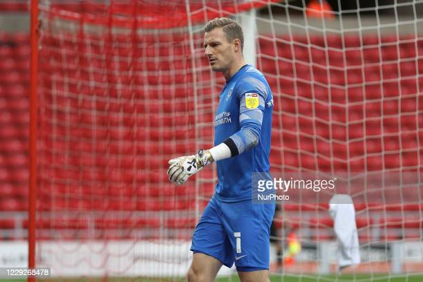 Craig MacGillivray of Portsmouth during the Sky Bet League 1 match between Sunderland and Portsmouth at the Stadium Of Light Sunderland on Saturday...