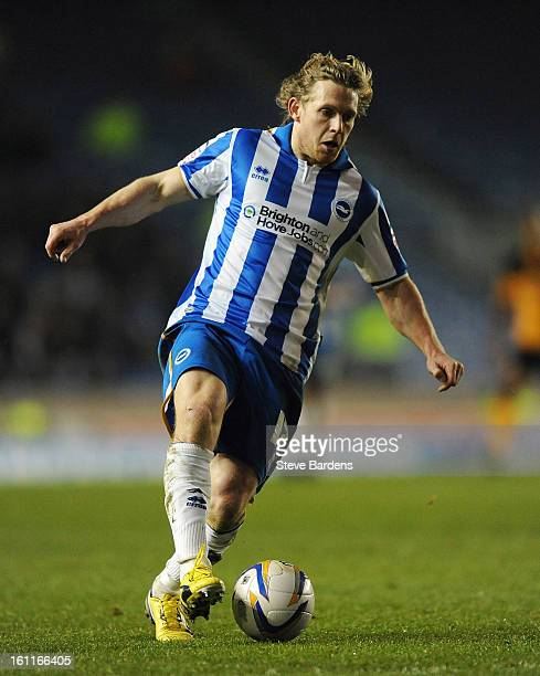 Craig MackailSmith of Brighton Hove Albion in action during the npower Championship match between Brighton Hove Albion and Hull City at Amex Stadium...