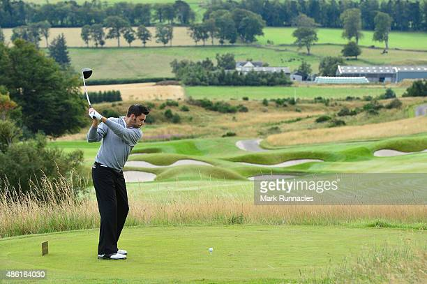 Craig Manson of Clevedon Golf Club on the 8th tee during the first day of The Lombard Trophy at Gleneagles on September 1 2015 in Auchterarder...