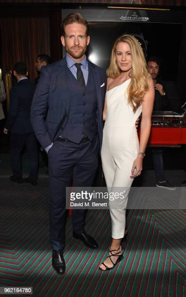 Craig McGinlay and Jessica Moore attend the launch of the JaegerLeCoultre Polaris collection at Isabel's Mayfair on May 24 2018 in London England