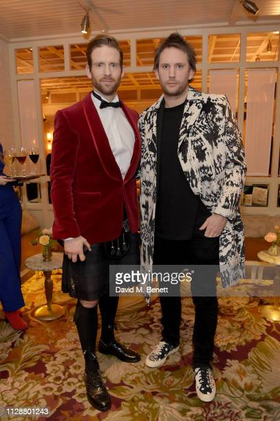 Craig McGinlay and Marc Jacques Burton attend the Netflix 2019 BAFTA AWARDS After Party at Chiltern Firehouse on February 10 2019 in London England