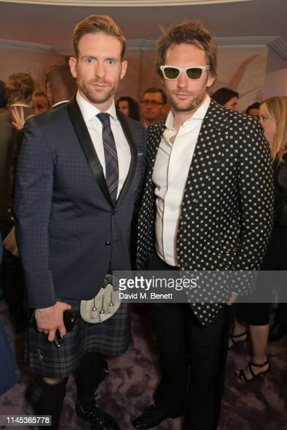 Craig McGinlay and Marc JacquesBurton attend the Chopard Gentleman's Evening during the 72nd Annual Cannes Film Festival at the Chopard Rooftop at...