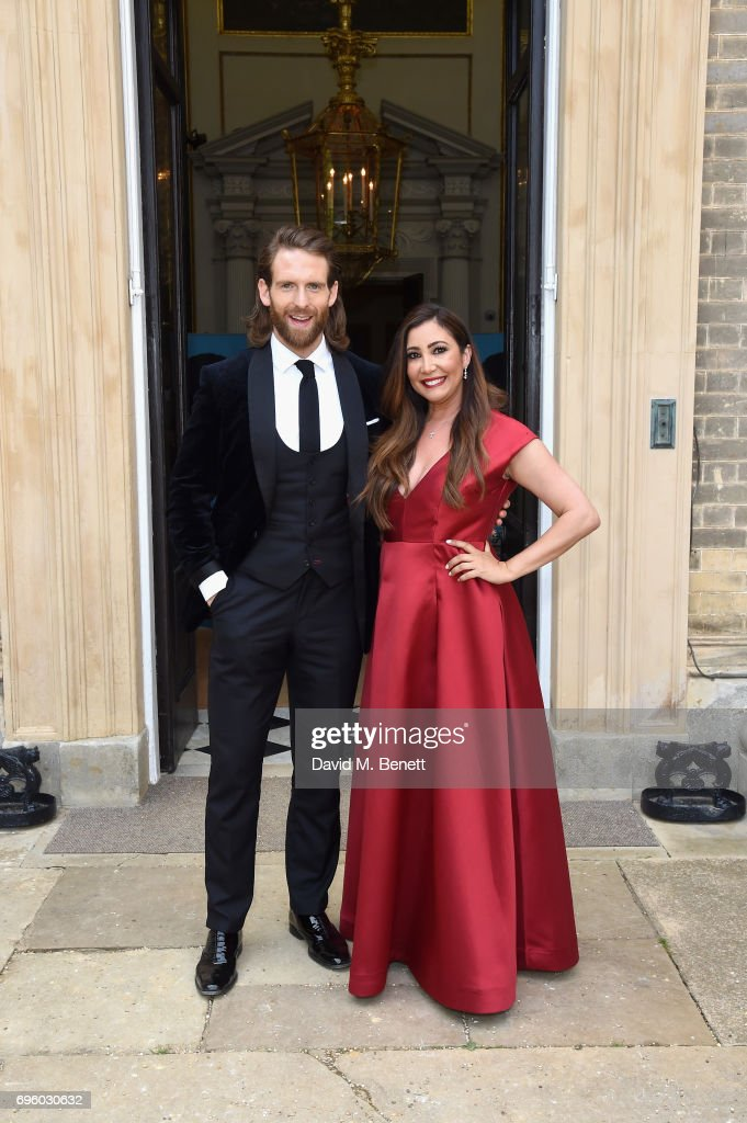 Craig McGinlay (L) and Maria Bravo (R) attend the Global Gift Gala for The Diana Award, hosted by Earl Spencer at Althorp House on June 14, 2017 in Northampton, England.