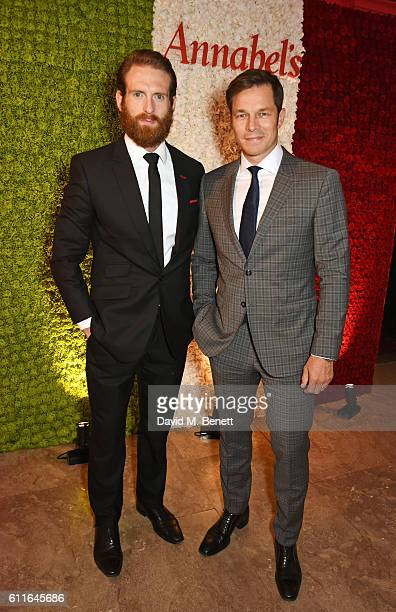Craig McGinlay and Paul Sculfor attend a VIP preview of the new site for Annabel's 46 Berkeley Square on September 30 2016 in London England