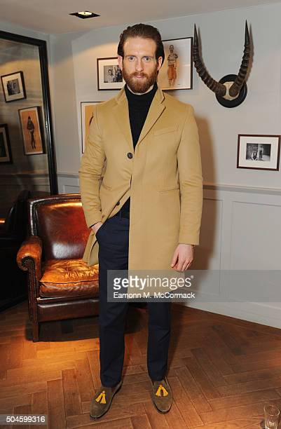 Craig McGinlay at the Thom Sweeney presentation during The London Collections Men AW16 on January 11 2016 in London England
