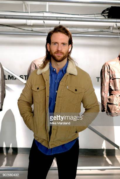 Craig McGinlay attends a showcases for design at the Belstaff presentation during London Fashion Week Men's January 2018 at The Vinyl Factory on...