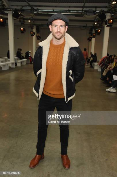 Craig McGinlay attends the Alex Mullins show during London Fashion Week Men's January 2019 at the BFC Show Space on January 6 2019 in London England