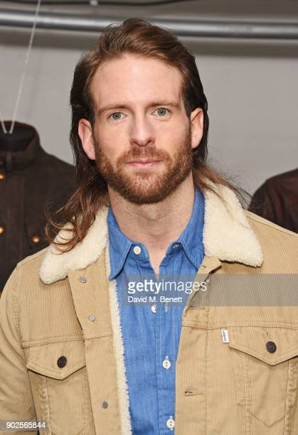 Craig McGinlay attends the Belstaff presentation during London Fashion Week Men's January 2018 at The Vinyl Factory Gallery on January 8 2018 in...